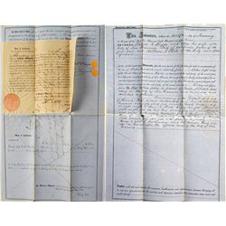 1859 Indenture of Sale for Land in San Francisco