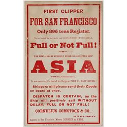 Clipper Card for the Asia with Cowen at the Command