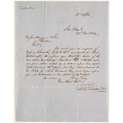"San Francisco Gold Rush Letter Re: Clipper Ship ""Witchcraft"""