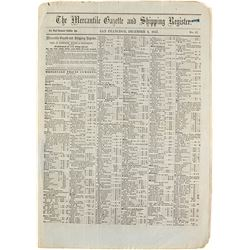 Mercantile Gazette & Shipping Register Lettersheet, Gold Rush