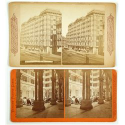 William Sharon's Palace Hotel , 2 Stereoviews by Watkins