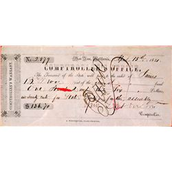 Controller's 1851 Receipt (when the Capital was in San Jose)