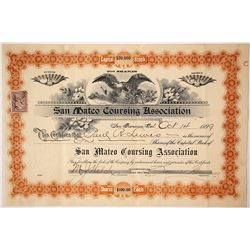 San Mateo Coursing Association Stock Certificate, 1899