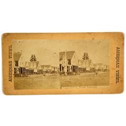 Stereoview  American Views – Truckee City, Pacific Railroad