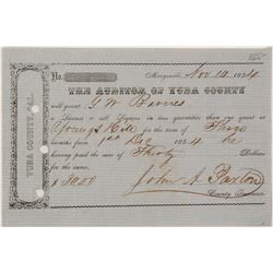 1854 Youngs Hill Liquor License for GW Barns.