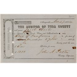 1854 Yuba County Peddlers License
