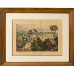 Original Currier and Ives California Color Print
