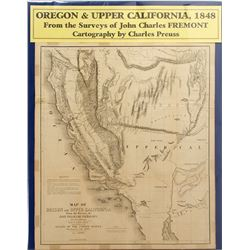 Map of Oregon & Upper California, Gold Rush, 1848