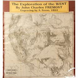 Map of Exploration of the West, 1854