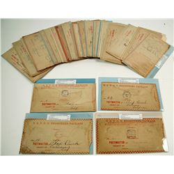 Great Collection of California Postmarks on USPOD Registered Packages