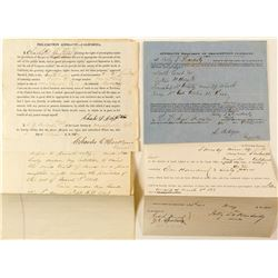 Land Affidavit Documents 1860's