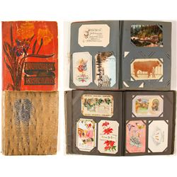Original c1910 Postcard Albums