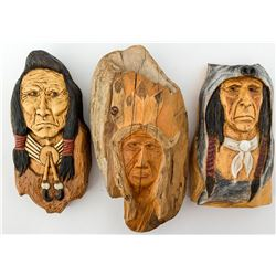 Three Carvings by Mike Collier