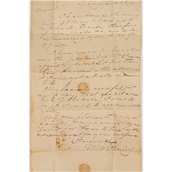 1836 Lexington, Georgia Stampless letter sheet addressed to George W Paschal