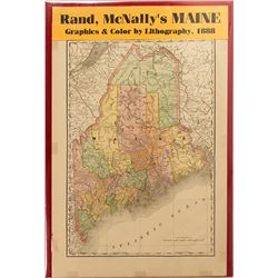 Map of Maine, 1888