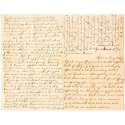 Four Page Letter about the Changes after the Civil War (Slavery)
