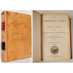"Compiled Laws of Nevada, 1873, ""Office of District Attorney, Property of Nevada"""