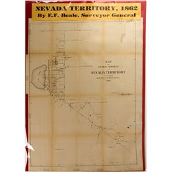 Map of Public Surveys in Nevada Territory, 1862