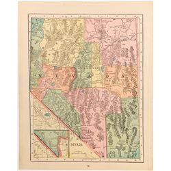 Pre-1909 Nevada Map