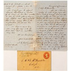 Cerro Gordo Manuscript Cancel and Letter
