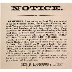 1837 Hard Times Handbill