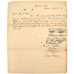 1838 Whig Letter