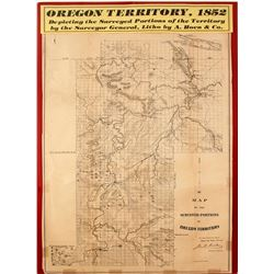 Map of  the Surveyed Portions of Oregon Territory, 1852