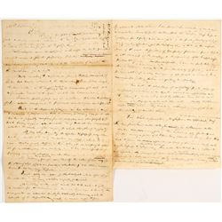 Original (Discovery Piece?) Letter about an Expedition to Wisconsin