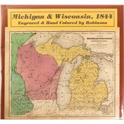 Map of Michigan & Wisconsin, 1844