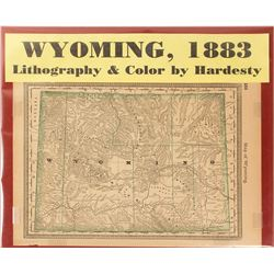 Map of Wyoming, 1883