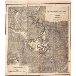 Yellowstone Survey Map by FV Hayden, 1871