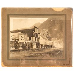Photograph of North side of 5th street in Stewart, British Columbia in 1910