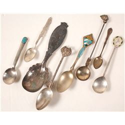 Foreign and Others Sterling Silver Spoons (8)