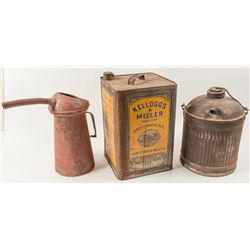 Linseed Tin and 2 Radiator tins
