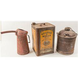 Linseed Tin and 2 Radiator tins