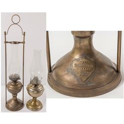 2 Oil Lamps with Glass Globes