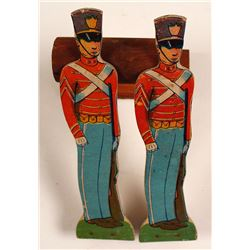 Set of 15 Childrens Toy Soldiers and Cannon