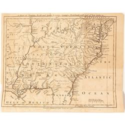 1755 Georgia, Virginia, Carolina, Maryland, etc. Map