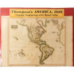 Map of Thompson's America, 1823