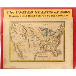 Map of the United States of 1838