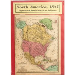 Map of North America (Pre Gold Rush), 1844