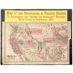 Map of Territories & Pacific States, 1863
