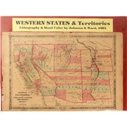 Map of Western States & Territories, 1864