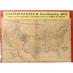 Map of U.S. & Territories, 1873
