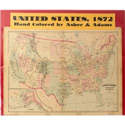 Map of United States, 1872