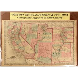 Map of Six Western States & Territories, 1873