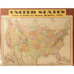 Map of United States, 1895