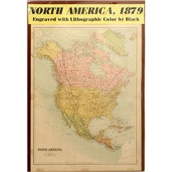 Map of North America, 1879