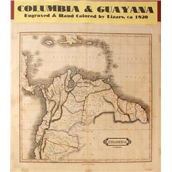 Map of Columbia & Guayana, c.1820