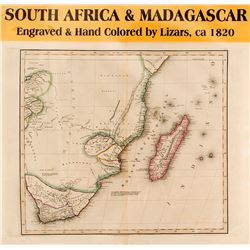 Map of South Africa & Madagascar, c.1820